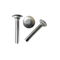 Silver Round Cap MS Carriage Bolt