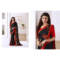 Ladies Floral Printed Party Wear Saree