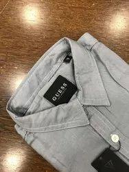 French Tencel Linen Collar Neck Guess Premium Mens Shirts