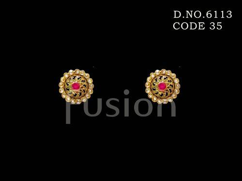 16ea873f9 Fusion Engagement And Wedding Traditional Designer Stud Earrings, Rs ...