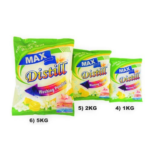 White Distill Max Detergent Washing Powder, for Laundry, Packaging Size: 1 Kg,2 Kg,5 Kg & 25 Kg