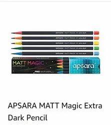 Black Wood,Graphite Apsara MATT Magic Extra Dark Pencil, For Writing, Packaging Size: 10 Piece