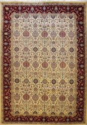 Brown Printed Double Weft Carpet, Size: 9 X 9 feet