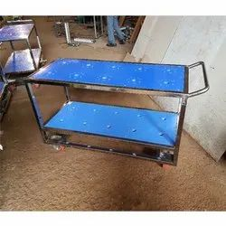 Compressor Holder SS Trolley With HDPE Sheet