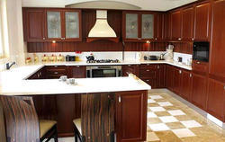 Residential G Shaped Modular Kitchen, Warranty: 1-5 Years