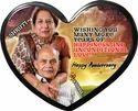 MDF Heart C Photo Plaque