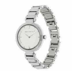 Silver Dial Metal Strap Watch