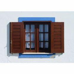 Rectangle Rectangular Two Panel Wooden Window Frame