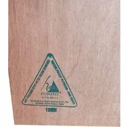 Hunsply BWR Grade Hot Pressed Synthetic Resin Bonded Plywood Board, Thickness: 18 Mm, Size: 8 X 4 Feet