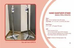 Paddle hand senitizer stand