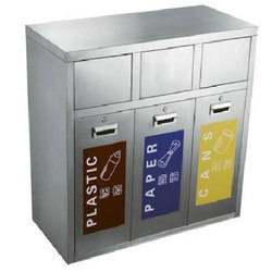 3 Strap Container Steel Recycle Bin