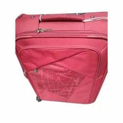Polyester Pink Trolley Suitcase, Two Wheel, Size: 20x24 Inch