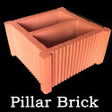 Pillar Hollow Brick, For Partition Wall