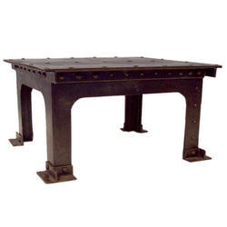 Industrial Furniture Cast Iron Wooden Dining Table