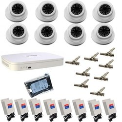 CLEPTA 2.0mp Dome Camera System, for Security, Vision Type: Day & Night