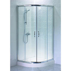 Corner Inline Shower Glass