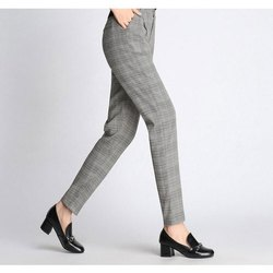 Grey Cotton Ladies Formal Pant
