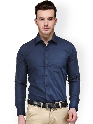 bbe18e474a Blue Plain Mens Dark Formal Shirt, Rs 450 /piece, Freaky Brothers ...