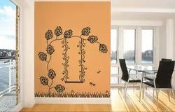 Wall Floral Texture Painting Service