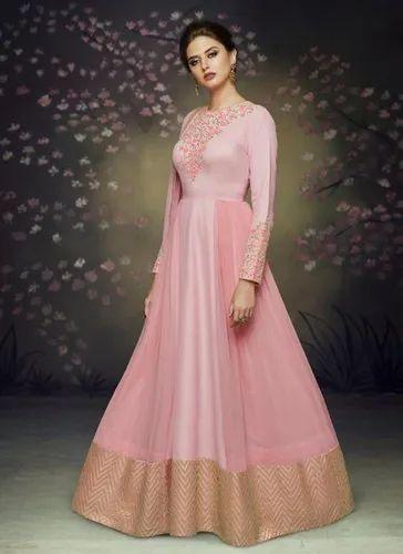 7406ece91c Kesari Exports Satin Silk Reception Wear Designer Gown