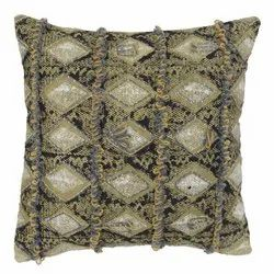 Embroiderered Diamond Pattern Handmade Cushion Cover