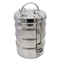 BPA Free Polypropylene Steel 4 Container Lunch Box