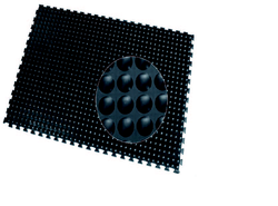 Rubber Black Anti Fatigue Mat, Mat Size: 2ft X 3ft