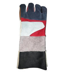 Industrial Leather Safety Hand Gloves, Size: 12 to 18 Inch