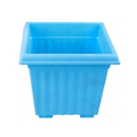 10 Inch Blue Square Planter