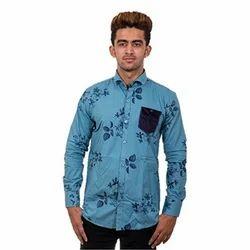 Medium And Large Printed Men's Full Sleeve Shirt
