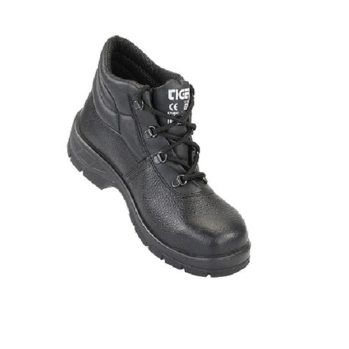 d5350d86d988 Leather And PU Tiger Leopard - Hi Ankle Steel Safety Shoe, Rs 760 ...