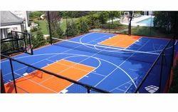 Basketball Sports Flooring Services, Finish: Matte