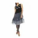 Ladies Chiffon Black Net Dress