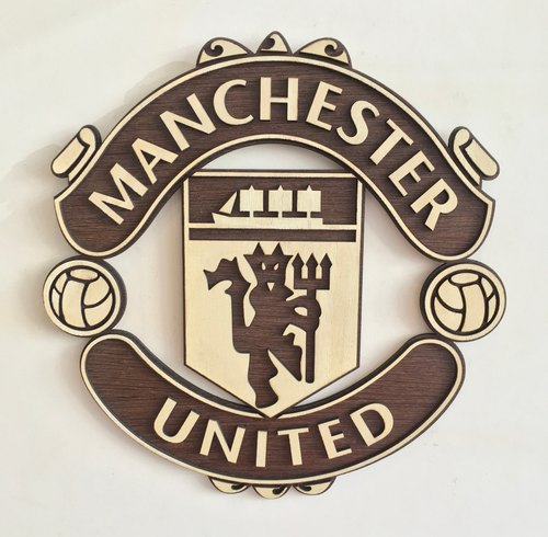 Manchester United Wall Hanging Wooden Logo Size 12 X 12 Inches Approx Rs 2000 Piece Id 21259172730