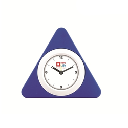 Abs Plastic Blue Triangle Table Clock, For Promotional