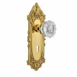 Brass Gold Antique Door Mortice Handle