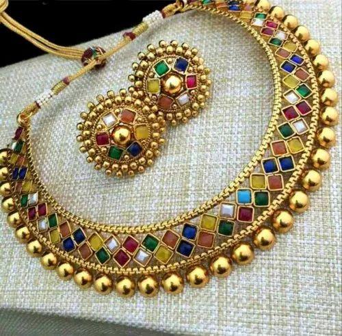 0cc80a97eea Sitashi Fashion Jewellery Gold Plated Multicolor Necklace Set ...