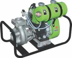 Petrol start diesel run pump set