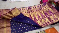 Archie Creators Border Designed Soft Banarasi Silk Saree, 6.3 m With Blouse Piece