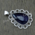 925 Sterling Silver Unique Jewelry Amethyst Gemstone Pendant