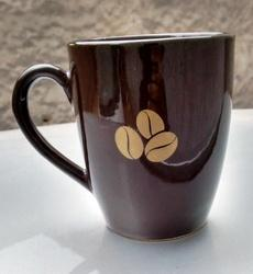 Printed Brown Ceramic Promotional Mug, Packaging Type: Box, Capacity: 250 Ml