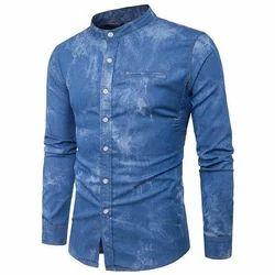 Casual Wear Faded Men Full Sleeves Denim Shirt