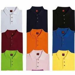Cotton Plain Polo Collar T Shirt