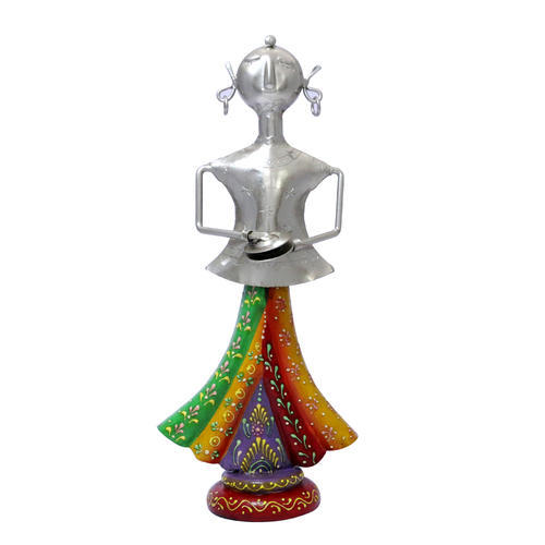 Multicolor Cast Iron Decorative Musician Doll