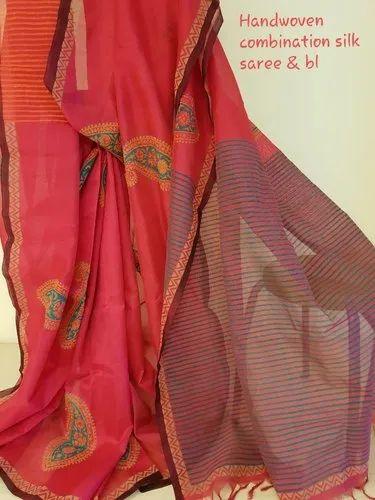 Handwoven Combination Silk Saree