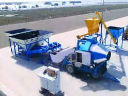 Reversible Concrete Mixer with Venus Feeding System