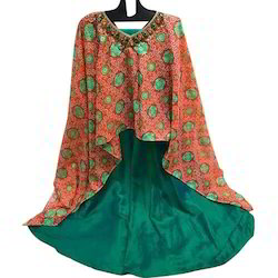 Anarkali Kurti with Poncho