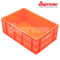 Orange And Rectangular Supreme Scl 604022 Material Handling Crates, Capacity: 45 Ltr