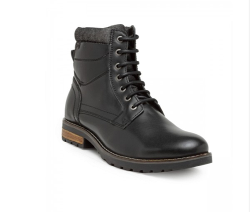 Black Casual Ankle Lace-Up Boots