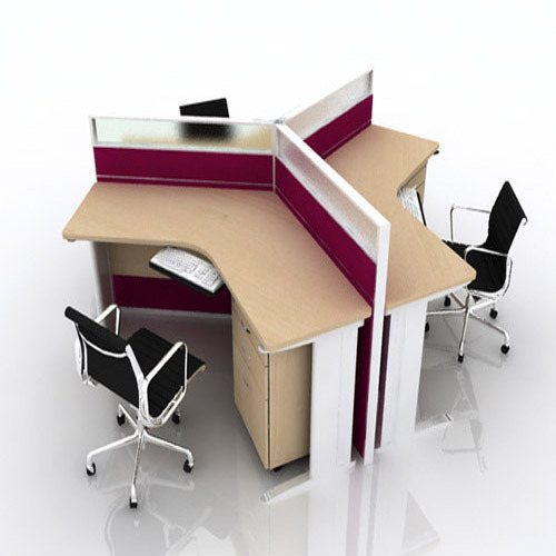 modern office workstations. Three Seater Office Workstations Modern